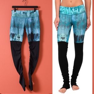 ALO Yoga teal desert sunset/black Goddess legging